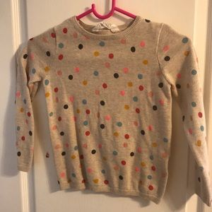 Girls polka dot sweater